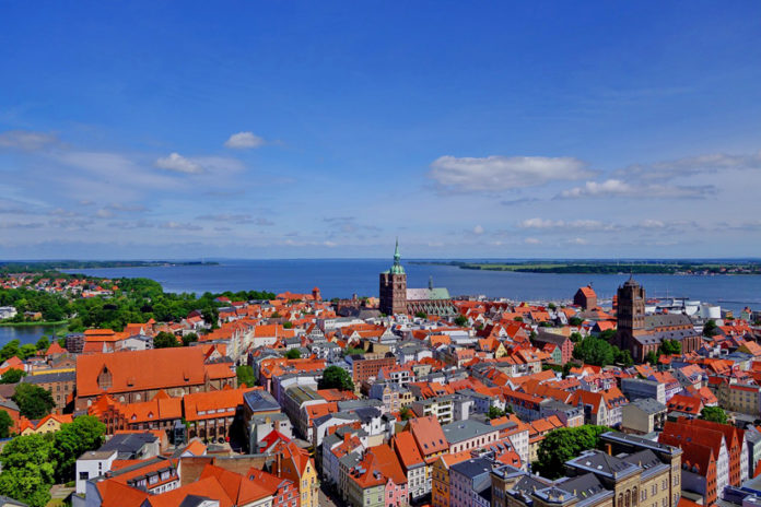 The historic Stralsund old town island is a UNESCO World Heritage Site