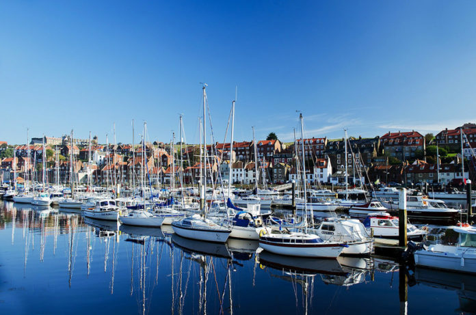 Whitby is a picturesque town on the north coast of Yorkshire, England
