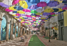 The Umbrella-Lined Streets of Agueda