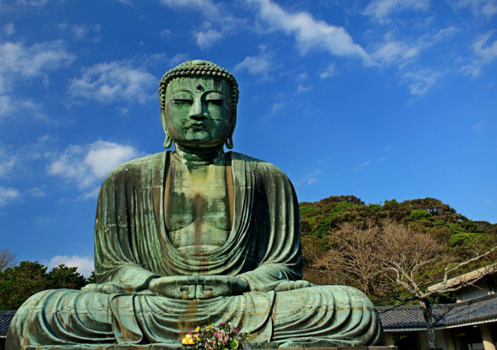 The Great Buddha of Kamakura (鎌倉大仏, Kamakura Daibutsu) is a bronze statue of Amida Buddha, which stands on the grounds of Kotokuin Temple