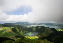 Lagoa de Santiago, Sete Cidades volcano complex,Sao Miguel island, Azores