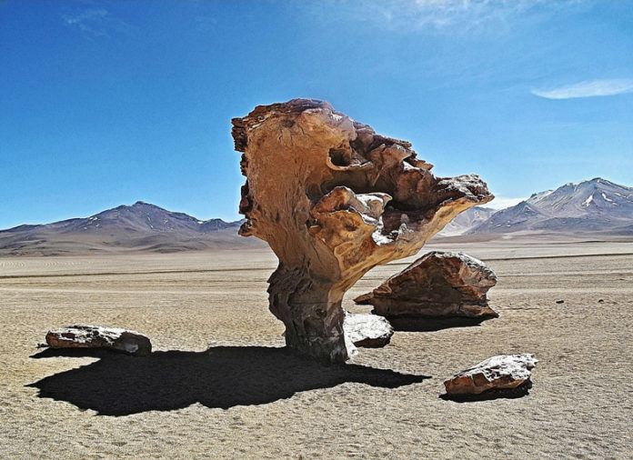The Salvador Dali desert or simply Dali desert is a desert in southwestern Bolivia, located south of the department of Potosi within the Eduardo Abaroa Andean Fauna National Reserve