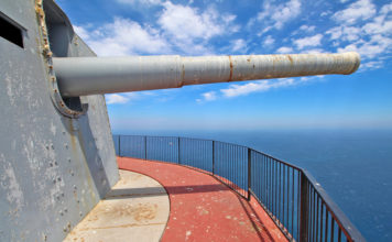 The gun barrel of the O'Hara Battery, at the highest point of Gibraltar