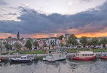 Warnemunde is a seaside resort north of Hanseatic city Rostock
