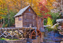 The Glade Creek Grist Mill is one of the most-photographed structures in the state, photographers and artists capturing the beauty of this iconic setting