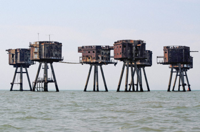 Shivering Sands is a Maunsell Fort in the Thames Estuary off the south east coast of England