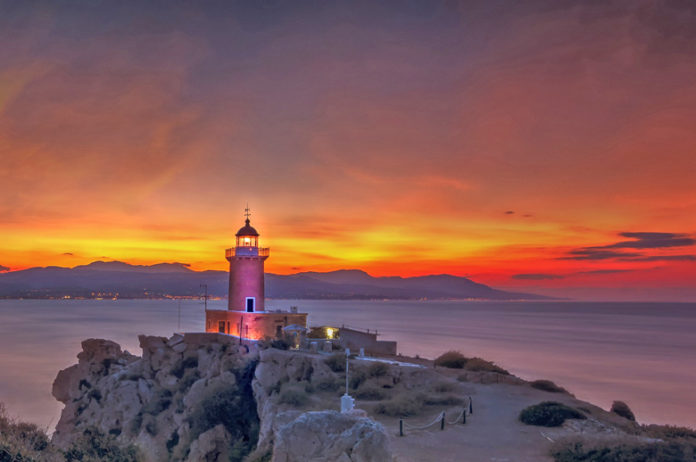 The lighthouse at Acre Melagavi or Lighthouse of Iraion is one of the most photographed landmarks