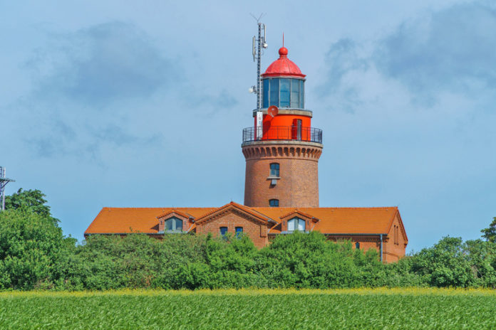 The BUK lighthouse is topographically the highest lighthouse in Germany