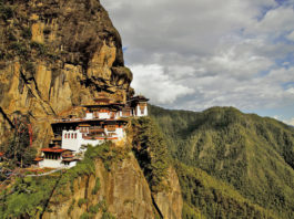 Taktshang is a most famous Buddhist monastery complex in Bhutan