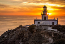 The lighthouse is famed for its amazing sunset views, The nearest beach is Red Beach, sandy, but only accessible on foot