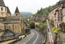 """The Abbey and the Bridge of the Pilgrims have been awarded as part of the UNESCO World Heritage """"Way of St. James in France""""."""