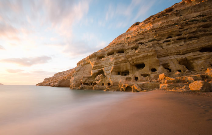 According to Greek mythology, Matala was the place where Zeus in the form of a bull transported the princess Europe
