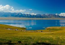 "Sailimu Lake, formerly known as ""Net Sea"", is located in the northern Tianshan Mountains in Bole City, Bortala Mongolian Autonomous Prefecture, Xinjiang Uygur Autonomous Region, China. It is adjacent to Huocheng County of Yili Kazakh Autonomous Prefecture and is the highest mountain in Xinjiang"