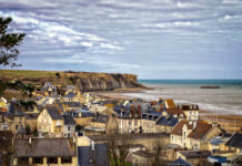 The city stretches along the coastal region called Gold Beach, codename put during the landing of D-Day by Allied forces during World War II. Arromanches was selected as one of the sites for the construction of two Mulberry ports