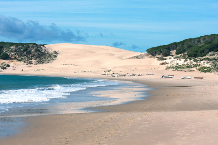 The dune of Bologna is a sand dune of more than 30 meters high located northwest of the cove of Bologna, towards Camarinal Point, on the Atlantic coast of the province of Cadiz and the region of Andalucia (Spain).