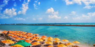 """The main tourist feature of the municipality could not be the world famous beach of Porto de Galinhas, elected ten times in a row the """"best beach option in Brazil"""" by Travel & Tourism magazine"""