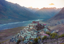 Key Monastery or Key Gompa is a Tibetan Buddhist monastery located at an altitude of 4,116 meters, on the heights of a hill near the Spiti River in the Spiti Valley in Himachal Pradesh. India.