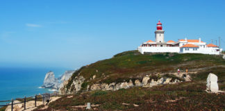 Cabo da Roca is a beautiful cliff that emerges 140 meters above the Atlantic It is the westernmost end of Europe.