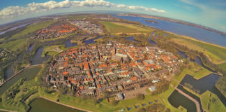 Naarden is a small town surrounded by large 17th-century fortifications, among the best preserved in Europe