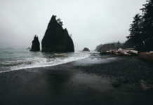 Rialto Beach is a beach on the Pacific Ocean in the US state of Washington. It is one of the best known beaches in Olympic National Park.