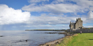 Ackergill Castle, also called Ackergill Tower, is a castle located in Sinclair Bay