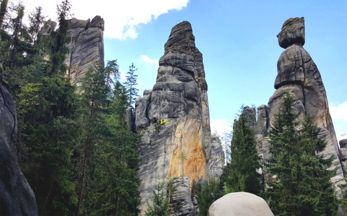 Adršpach Rocks is the most visited rock town in the Czech Republic. It attracts visitors with its fairytale charm and an inexhaustible number of rock formations.