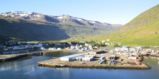 Seydisfjordur is famous for its old wooden buildings. In the city you can find specially designated places for car tourists