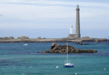 Built between 1897 and 1902 with a height of 82.5 meters, the Phare de l'Île Vierge is the tallest lighthouse in Europe