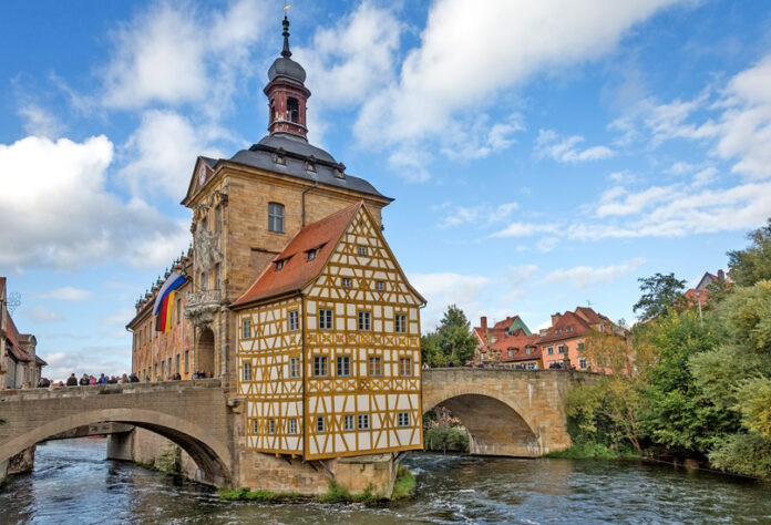 The main attraction of the Bamberg is the Old Town Hall. There is a legend that the local bishop did not permit the construction of this public building on the city land. Two bridges connect the Old Town Hall with the rest of the city - the Lower and the Upper.