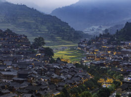 Qianhu Miao Village is China's largest, most well-preserved, densest housing complex, and the most ornamental and research-worthy stilted wooden building complex